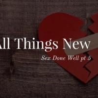 Sex Done Well pt. 5: All Things New